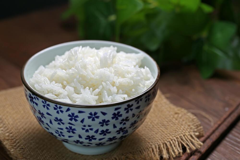 photo de riz avec lumière naturelle